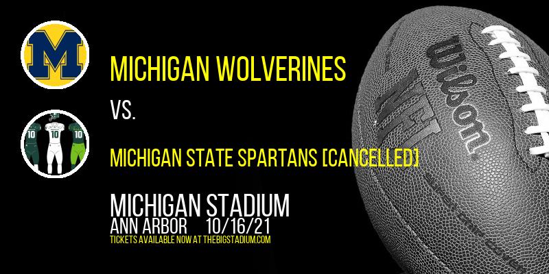 Michigan Wolverines vs. Michigan State Spartans [CANCELLED] at Michigan Stadium